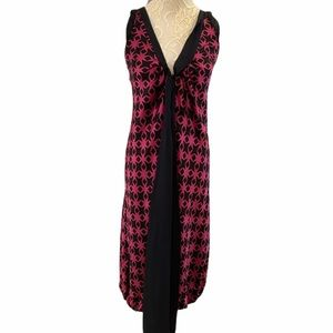 A Common Thread Magenta & Black Silk Dress
